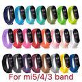 Strap für Xiaomi Mi Band 6 5 4 3 Sport Armband Silikon Armband Mi Band 3 4 Band5 ersatz riemen für mi band 6 uhr band