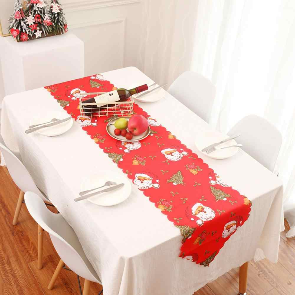 Table Runner Printed Tablecloth Christmas Snowman Placemat Christmas Decoration