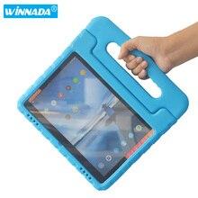 Housse de tablette pour Lenovo Tab E10 de 10.1 pouces, matériau EVA non toxique, à main, antichoc, étui pour enfants pour lenovo tab e10