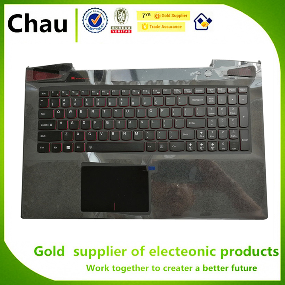 New For Lenovo Ideapad Y50-70 15.6 Keyboard  TOP Cover Palmrest Upper Case  5CB0F78866 AP14R000A00