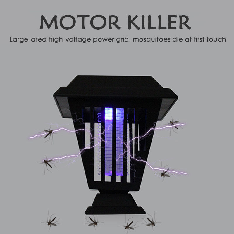 New High Quality Solar Mosquito Killer Outdoor Solar Mosquito Killer Lamp 2in1 LED UV Garden Pest Bug Zapper Light Hot Sale