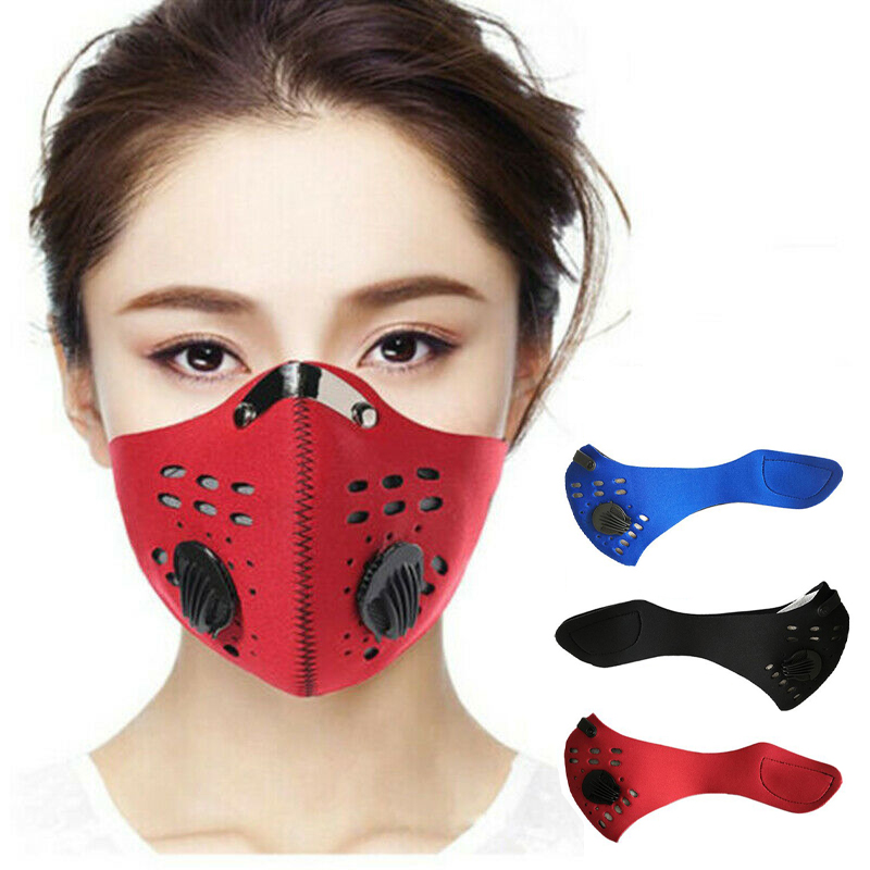 5-Layer Anti Pollution Dust PM2.5 Mask Bike Cycling Mouth Masks With Air Filter Mouth-muffle Bacteria Proof Flu Face Masks Care