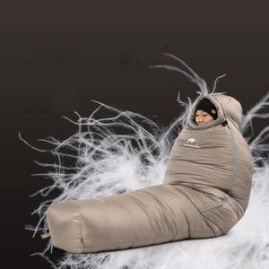 Image 4 - Naturehike saco de dormir de ganso blanco para adulto, a prueba de viento, impermeable, para acampar al aire libre y senderismo NH19YD004