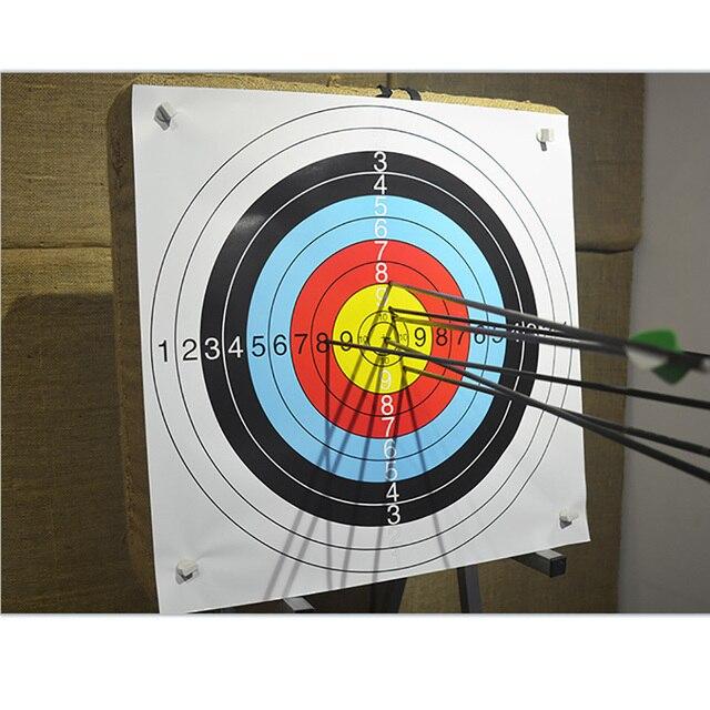 10pcs 60*60 cm/40*40 cm  Archery Shooting Target Paper Bow Hunting Archery Kit Standard Full Ring Single Spot 4