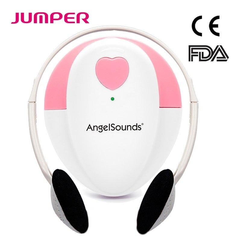 JUMPER Angelsounds Fetal Doppler Baby Sound Portable Fetal Heart Detector Monitor Household Health CE FDA Approved JPD-100S