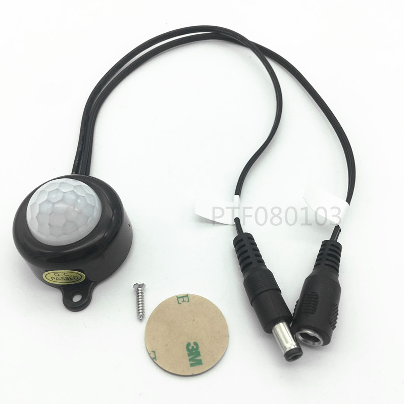 DC 5-24V/5A With Plug For LED Strip Human Body Infrared PIR Motion Sensor Switch Energy-Saving TDL-2025-B Plastic