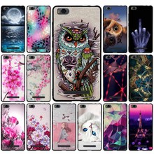Flower Painting Cases For Xiaomi Mi4c Soft Rubber Phone Case Cover For
