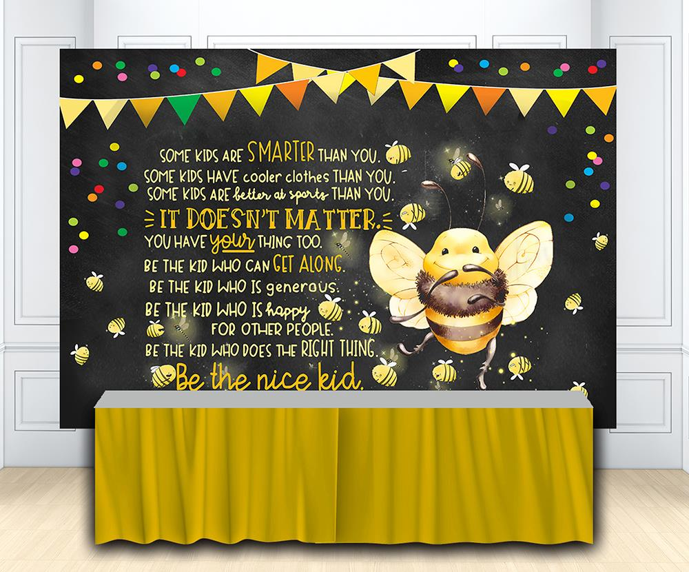 CHALKBOARD Happy Birthday BANNER Scene Setter Party Wall Decoration Sign Dots
