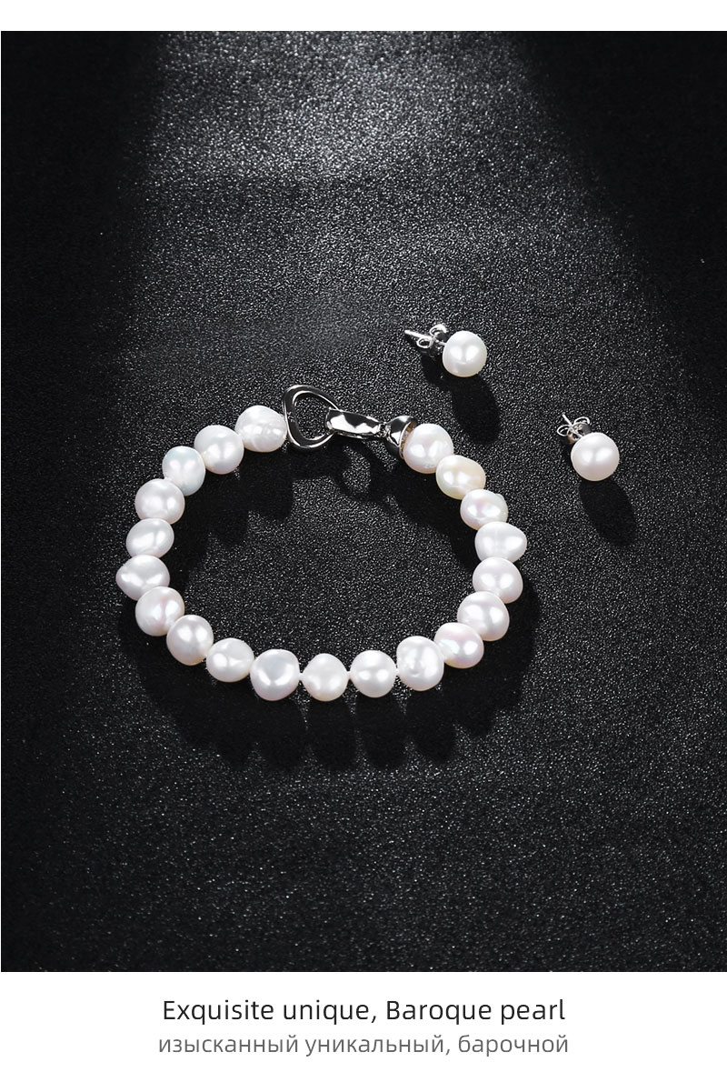 H64fb94275c224c54a16bea8f21cb3712k NYMPH FreshWater Pearl Jewelry Set For Women Natural Baroque White Stone Beads Choker Necklace Earrings Bracelet Party [T207]