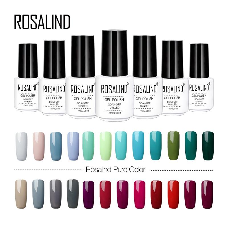 ROSALIND  Nail Art Polish UV Colors Vernis Semi Permanent Base Top Coat Gel Nail For Manicure Hybrid Lacquer Gel Varnish