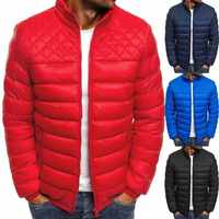 ZOGAA Brand Winter Men Parkas Coat New Men's Casual Fashion Parkas Male Simple Solid Color Hooded Parka Jackets Clothing 2019