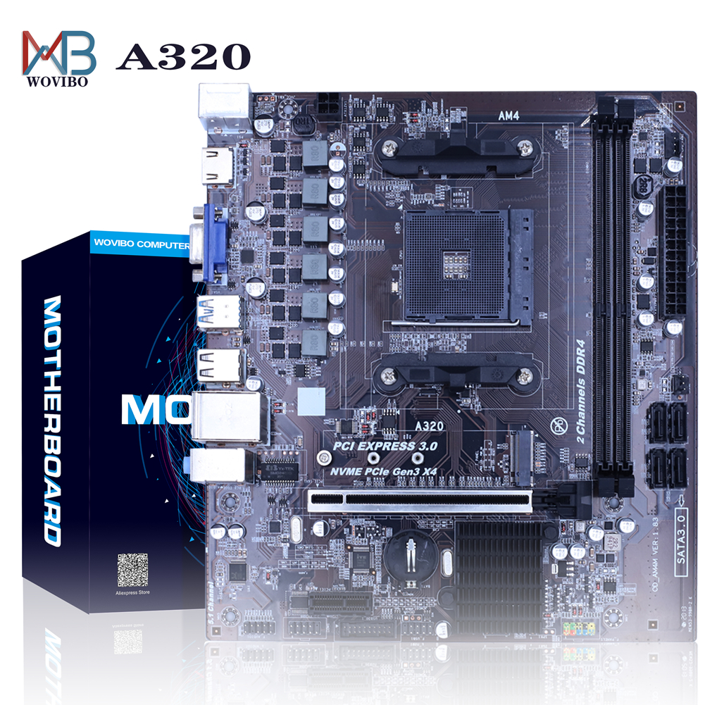 Motherboard AM4 A320 desktop Disk array SATAIII USB 3.0 HDMI DDR4 16G Memory M.2 SSD For AMD AM4 Socket Ryzen CPU Mainboard|Motherboards| - AliExpress