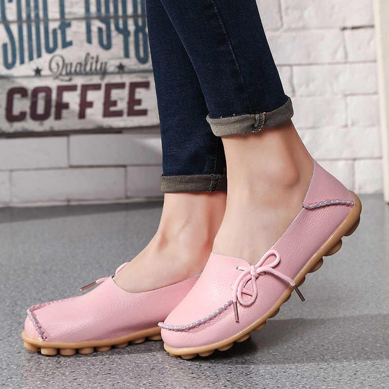2020 zapatos de mujer con cordones planos Oxford enfermera zapatos para mujer, calzado de marca de mujer zapatos antideslizantes femeninos de diseñador Casual de mujer