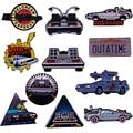 Прохладное время путешествия машина эмаль на булавке Ретро 80s фильм Back to the Future Marty McFly DeLorean значок утятить брошь машина