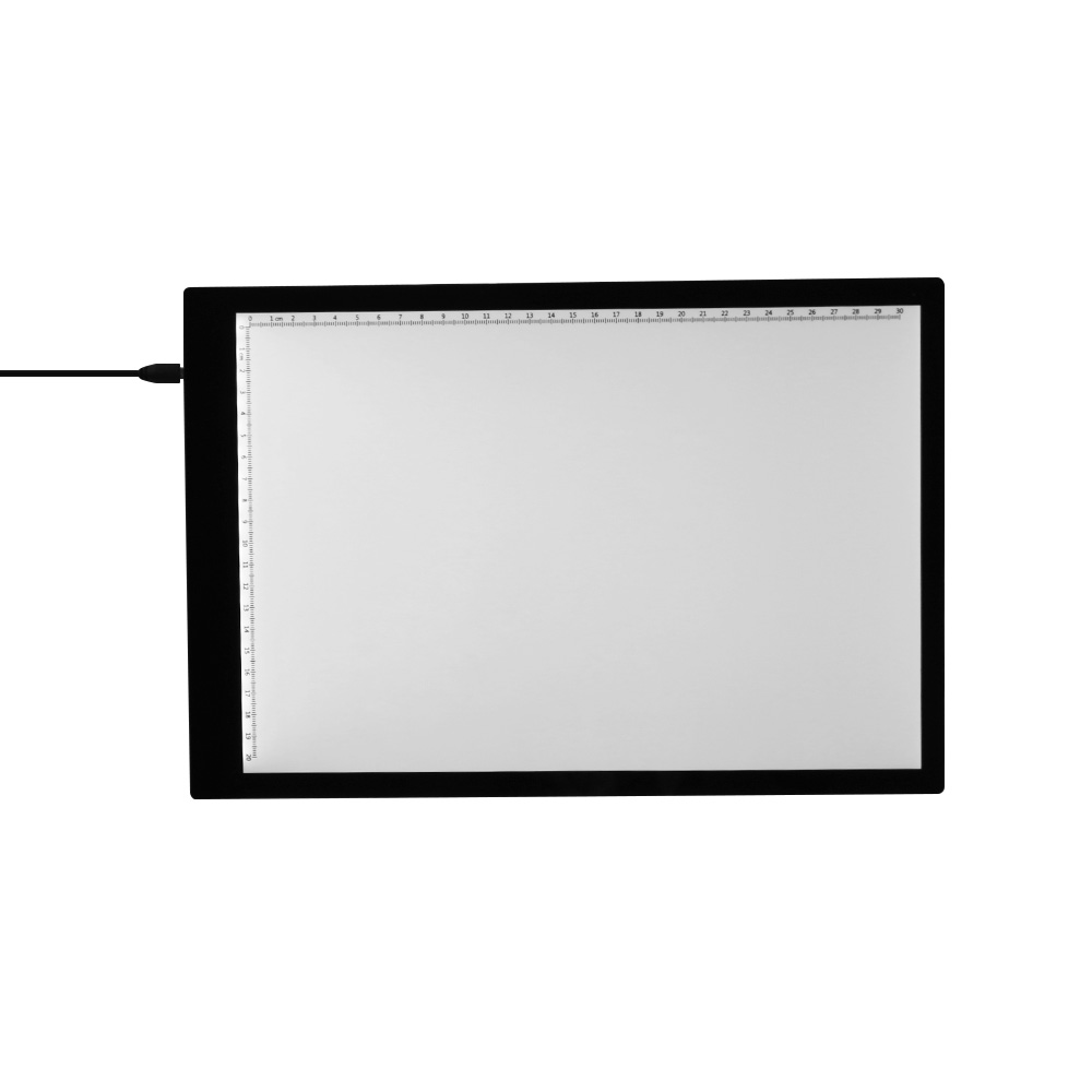 A4 LED Light Box Tracer with Scale Ultra-thin USB Powered Tracing Light Pad Board for Drawing Sketching Animation X-ray Viewing