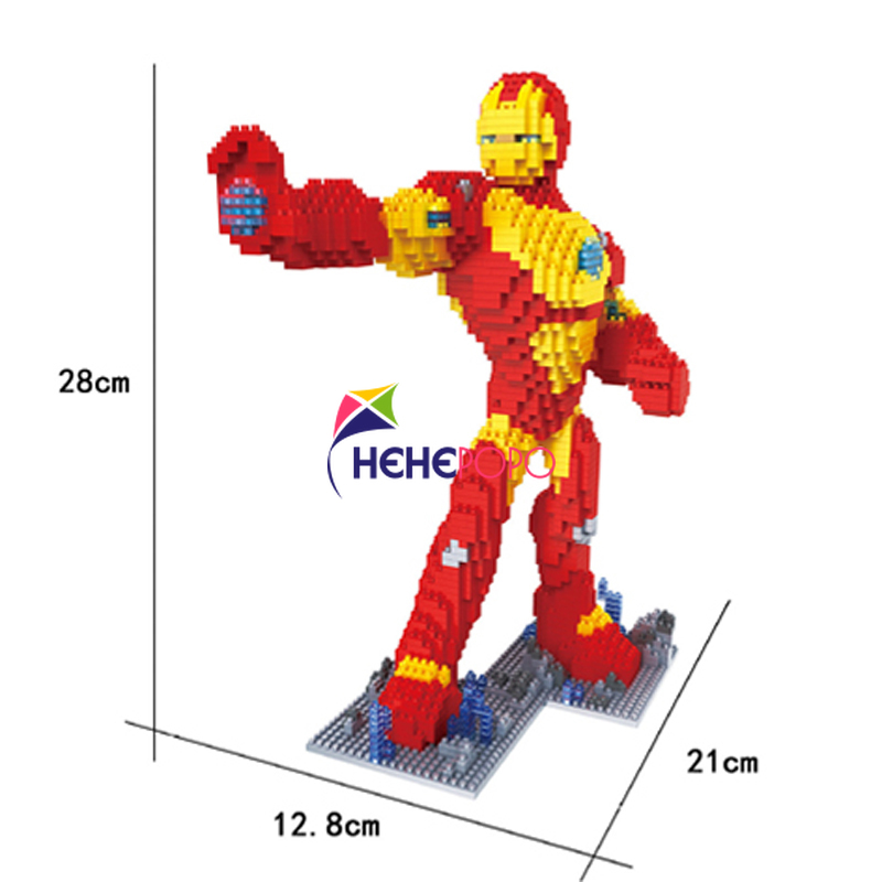 New Coming Super Hero Design Block with Cheap Price DIY Mini Mirco Diamond Building Blocks Bricks Toys Kids Gift 2