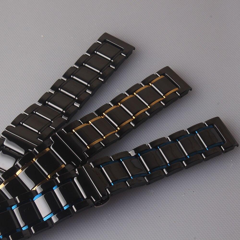 azul vermelho cerâmica alta qualidade pulseiras 20mm
