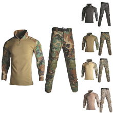 Tactical Ghillie Suit Men Hunting Clothes Camouflage Sniper Military Airsoft Uniform Shirt + Pants 13 Colors