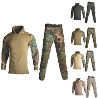 Tactical Ghillie Suit Men Hunting Clothes Camouflage Sniper Suit Military Airsoft Uniform Shirt + Pants 13 Colors