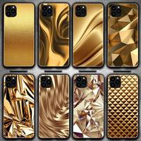 Funda de teléfono con estampado de flores doradas, para Iphone 6, 6s, 7, 8 Plus, XR, X, XS, XSmax, 11, 12 Pro, Mini Max
