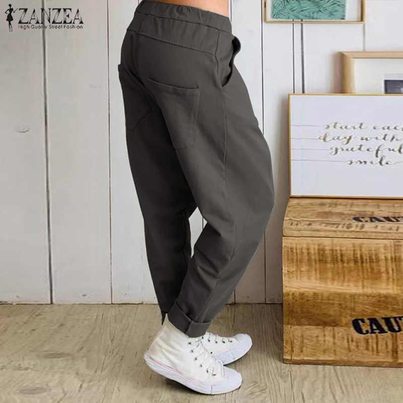 Zarmexx Pantalones Pantalones Para Mujer Pantalones Con Cinturon De Lazo Integrado Cintura Alta Negocios Casual 7 8 Talla De Zanahoria Ropa Pantalones