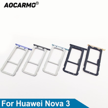 Aocarmo For Huawei Nova 3 Nano Sim Card Tray MicroSD Slot Holder Replacement Part
