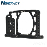 ADAI A6 Camera Cage for Sony a6000 a6300 a6400 a6500 with 1/4 and 3/8 Threaded Holes Cold Shoe Base,a6300 Camera Cage