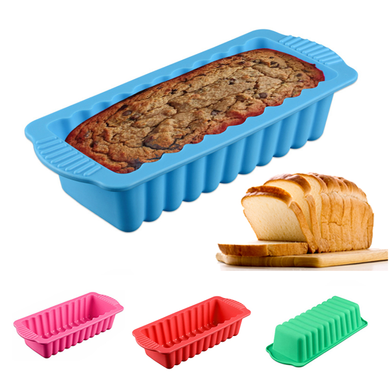 1pc silicone cake mold, heat-resistant rectangular bread baking mold, pastry shop accessories, cake tools, random colors