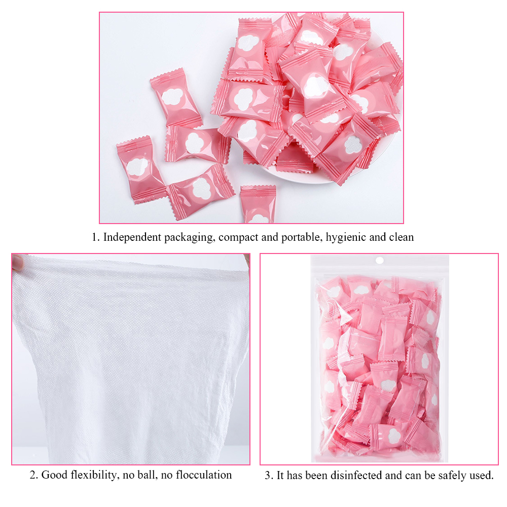 50pcs Outdoor Travel Disposable Magic Face Compressed Cotton Towel Tablet Cloth