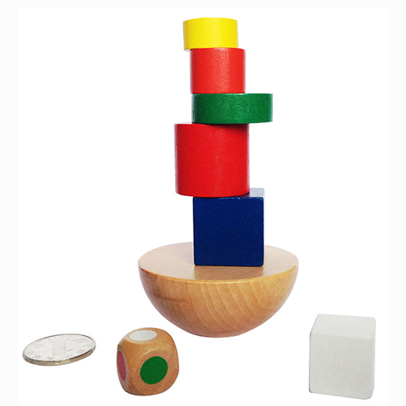 Balance Building Board Game High Quality Colorful Wooden Family/Party Best Gift For Children Funny Puzzle Game With Bag
