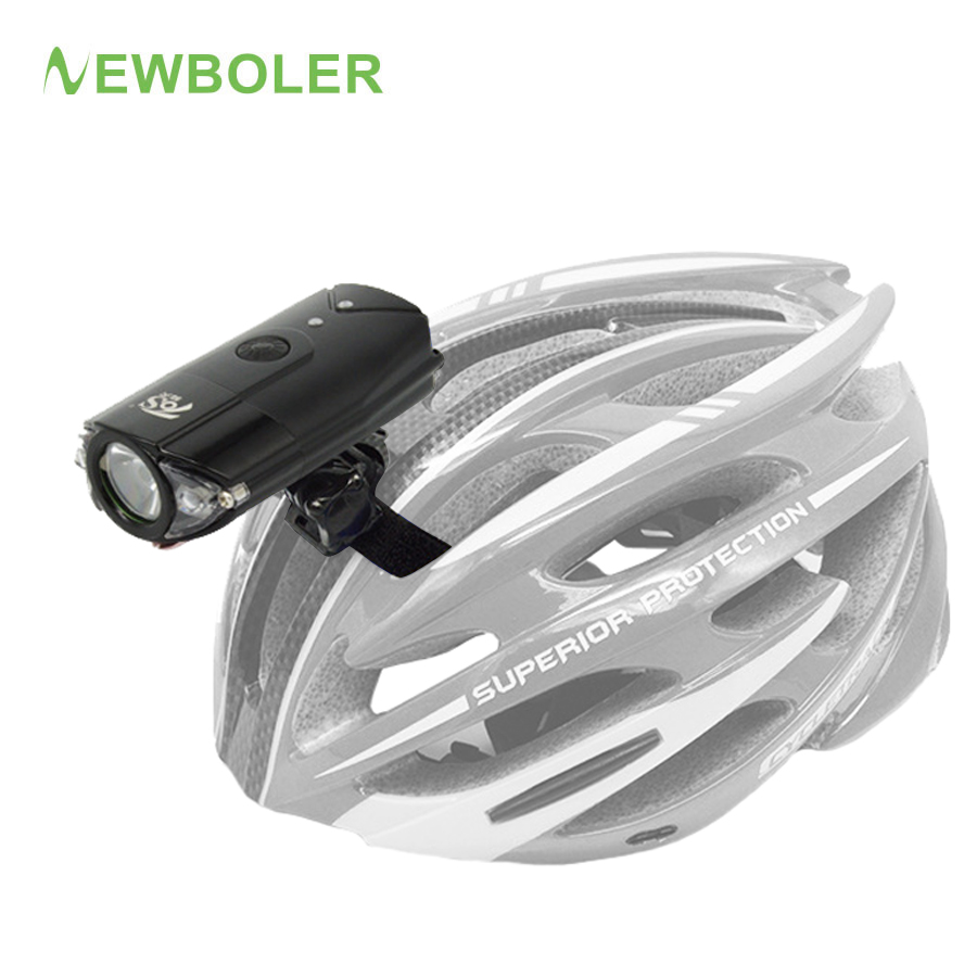NEWBOLER Bicycle Helmet Light L2 Bike Headlight LED Flashlight USB Rechargeable Lamp MTB Cycling Lantern For Bicycle Accessories