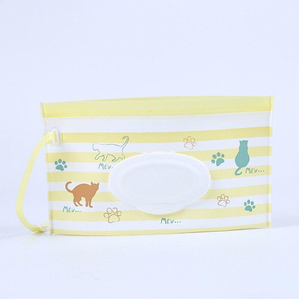 Экологически чистые влажные салфетки, сумка-раскладушка, косметичка, легко носить с собой, на застежке, салфетки, контейнер, клатч и чистые салфетки, чехол для переноски - Цвет: maozhua