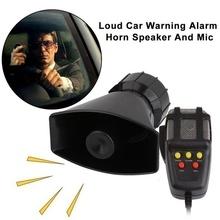 7 dźwięk 12V100W 130db dźwięk Alarm samochodowy róg samochodowy nagrywanie awaryjne syrena alarmowa Mic głośnik PA System awaryjny wzmacniacz Hooter tanie tanio JZFA CN (pochodzenie) Wielu tone claxon rogi 0 8kg CASH 15 5*9 5mm