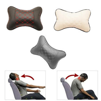 Car Seat Headrest Head Bone Pillow Pad Memory Foam Neck Rest Support Cushion New Car Accessories image