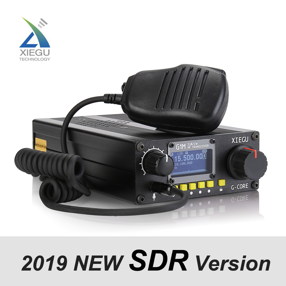 XIEGU G1M SDR HF Quad Band Portátil Transceptor QRP 5 Curta-Onda W AW 0.5-30 SSB CW MHz Rádio Amador Móvel