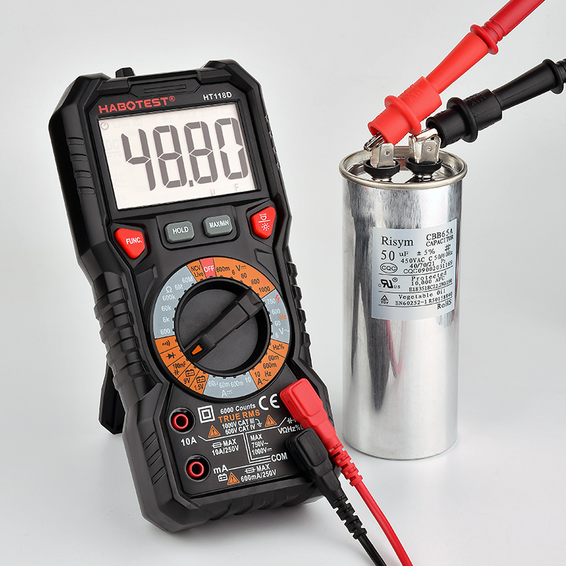 HABOTEST Automotive Digital Multimeter HZ Ohm Capacitance NCV LIVE Duty AC DC Voltmeter Multimetro True RMS Smart Multi Tester