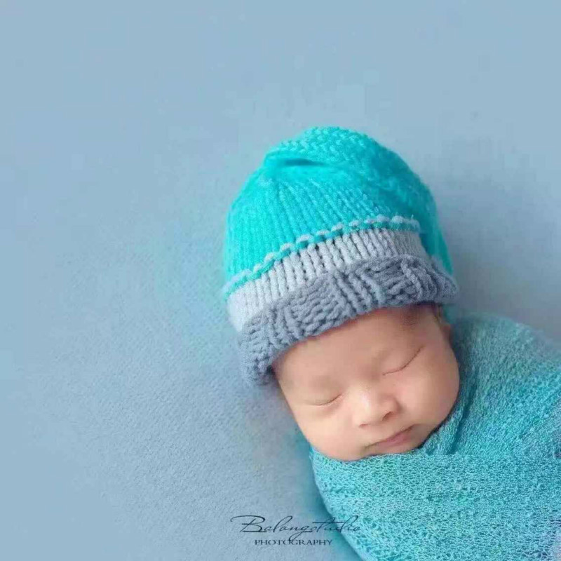 Newborn Baby Boys Clothes Wool Photography Props Manual Sweater Knitting Suit For Infant Shorts Milk Plumule Line Clothing