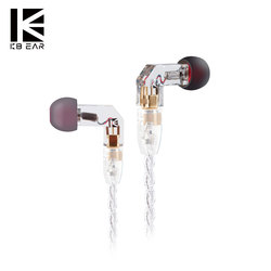 KBEAR F1 Balanced Armature HIFI Sport In Ear Earphone With 3.5mm MMCX Earbud Gold Plated Headset