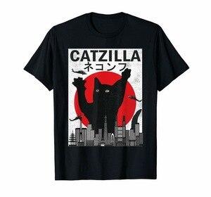 Винтажная футболка в японском стиле заката кошки котенка Lover цветная футболка с круглым вырезом