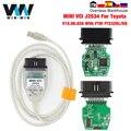 Инструмент Диагностический автомобильный V15.00.028 для Toyota MINI VCI J2534 с FTDI FT232RL OBD OBD2
