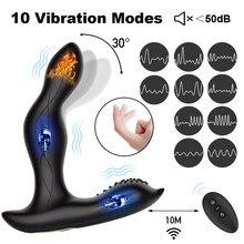 Sex zabawki wibrator analny palec prostaty masaż odbytu stymulować Butt Plug mężczyzna Masturbator podwórku wtyczki produkty erotyczne dla mężczyzn geje