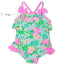 2017 new model 1-6years childrens swimwear girls cute girl flower pattern baby one piece swimsuit swimming swim sw0808