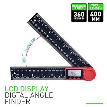 Kątomierz cyfrowy kątomierz linijka 360 stopni wyświetlacz LCD miernik nachylenia narzędzia pomiarowe PUO88 tanie i dobre opinie FangNymph