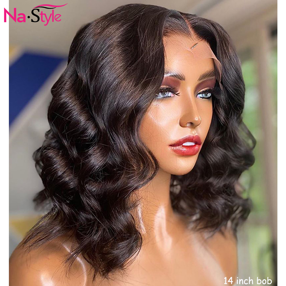 Short Bob Lace Front Wigs Loose Deep Wave Wig Pixie Cut 360 Lace Frontal Human Hair Wigs For Black Women Brazilian 150 Remy