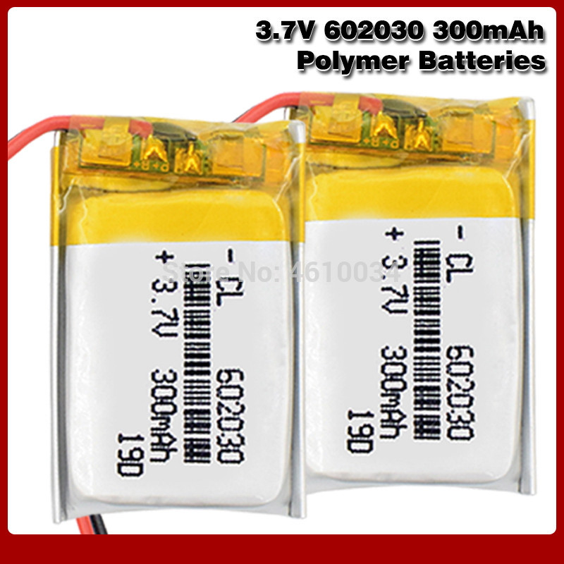 300mAh 3.7V <font><b>602030</b></font> lithium polymer Rechargeable battery For Bluetooth Speaker MP3 MP4 Smart Watch wireless card Selfie stick image