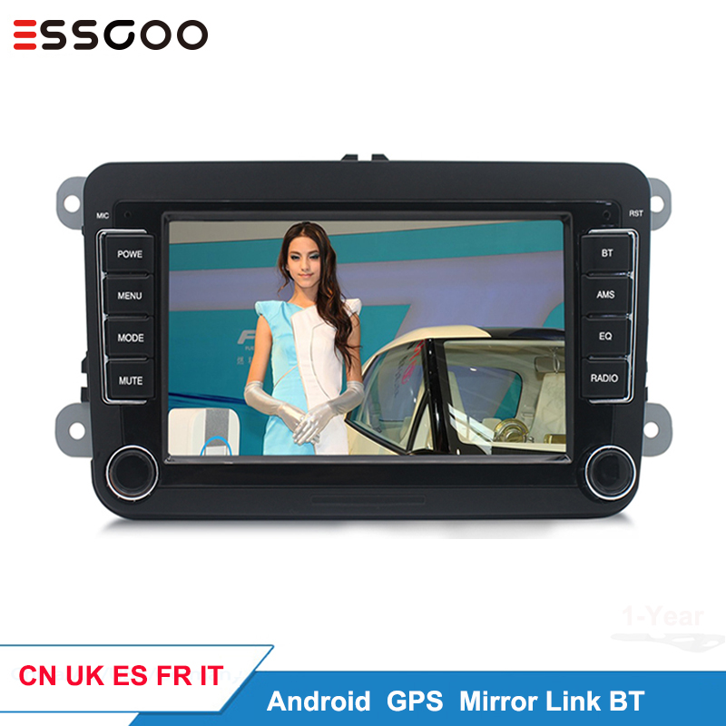 Essgoo Android Window 7   Car Multimedia Player Support GPS Navigation Autoradio 2din Stereo Car Radio For Volkswagen For VW