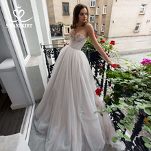 Romantic Tulle A Line Wedding Dress Swanskirt 2 In 1 Detachable Crystal Court Train Bridal Gown Princess Vestido De Noiva RA07