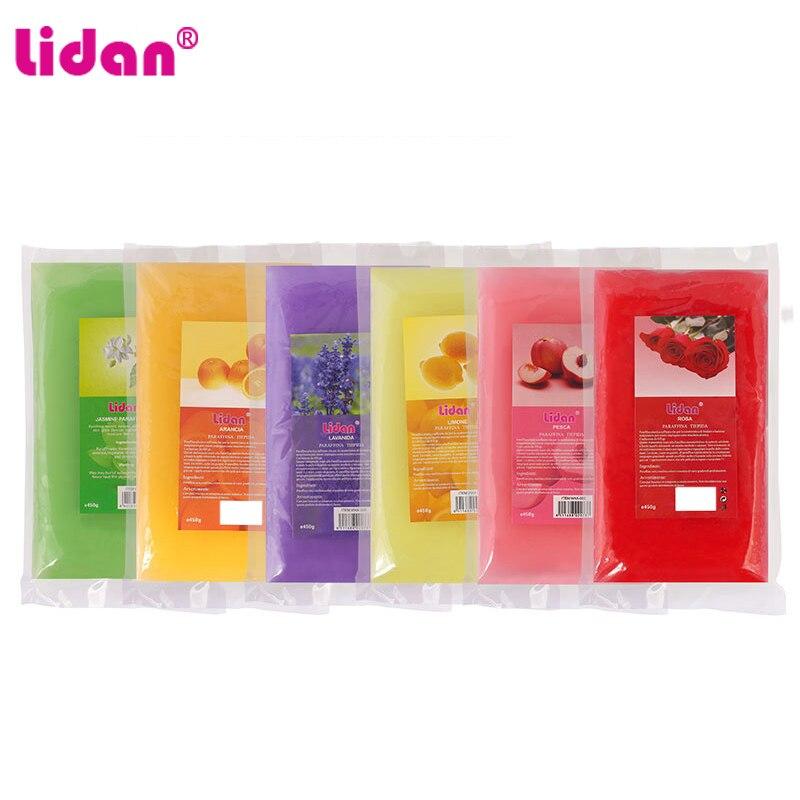 Lidan 450g rosa pesca limone lavanda odore paraffina cera bagno strumento per Nail Art per unghie mani maschera bagno di paraffina cura della pelle 1