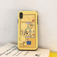 Funny cartoon Doll machine Pokemons Pikachue Anime Phone case For coque iPhone 7 8 6 6s Plus X XS Max Xr silicone cover