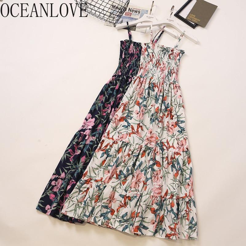 Одежда с цветочным принтом в пляжном стиле, весна-лето 2020, сексуальное женское платье с высокой талией, модные новые платья Ins 14219